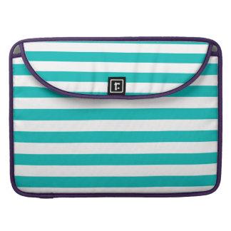 Aqua Horizontal Stripes Sleeve For MacBook Pro
