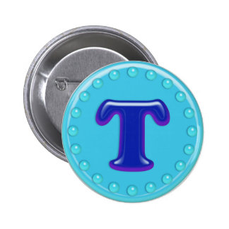 Aqua Initial T Pins