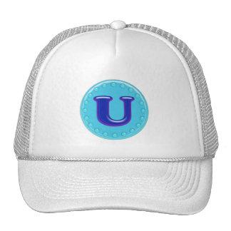 Aqua Initial U Hat