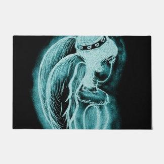 Aqua Inverted Angel Doormat
