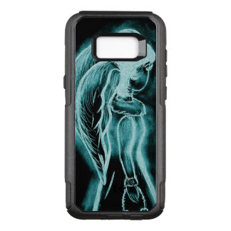 Aqua Inverted Angel OtterBox Commuter Samsung Galaxy S8+ Case