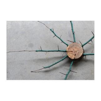 Aqua Jute & Wood Nature String Art Right