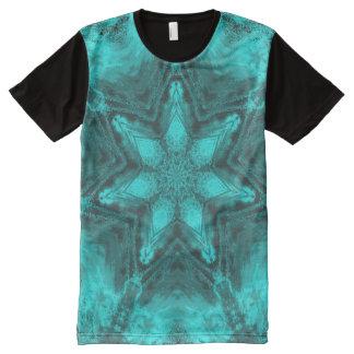 Aqua Kaleidoscope Star T-shirt All-Over Print T-Shirt