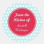 Aqua Kitchen Stickers