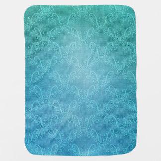 Aqua Lace Baby Blanket
