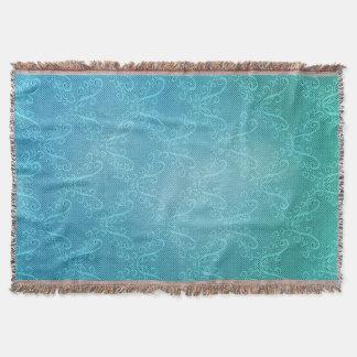 Aqua Lace Throw Blanket
