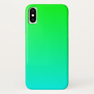 Aqua Lime Gradient iPhone X Case