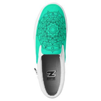 Aqua mandala Design Slip on ZIPZ