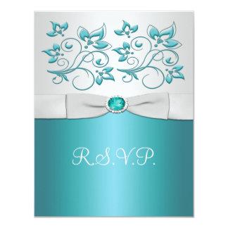 Aqua-marine and Silver Reply Card II
