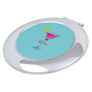 Aqua-Martini-Cocktails-Aqua-Fushia-Fun-Monogram Makeup Mirror