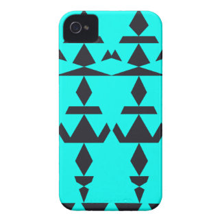 Aqua Minimal Tribal iPhone 4 Cases
