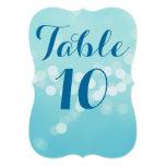 Aqua Modern 5 x 7 Table Numbers Custom Invitation