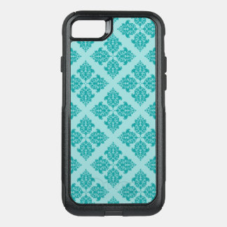 Aqua Moroccan Damask OtterBox Commuter iPhone 8/7 Case