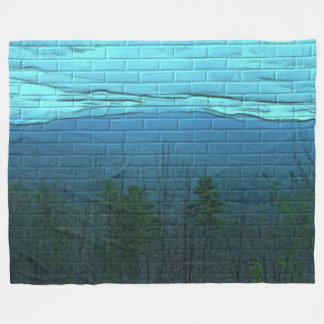 Aqua Mountain Morning Brick Pattern Throw Blanket