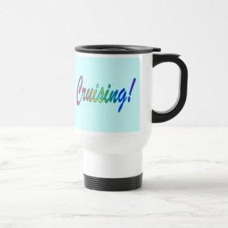 Aqua Multi-color Cruising Stainless Steel Travel Mug