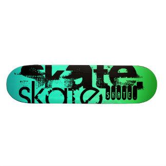 Aqua, Neon Green Gradient; Skate 21.6 Cm Skateboard Deck