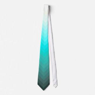 Aqua Ombre Chevron Tie