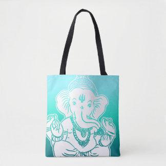 Aqua Ombre Ganesh Bag / Tote
