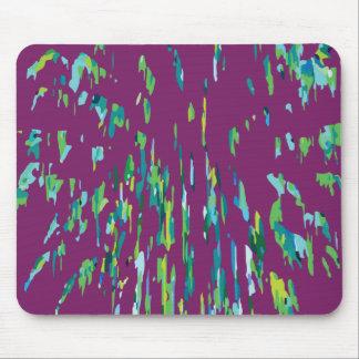Aqua on Purple Firework Mouse Pad