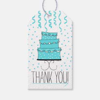 Aqua or Robins Egg Blue Birthday Cake -Thank You