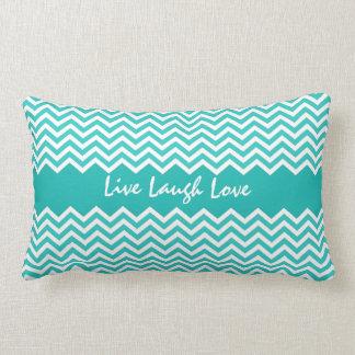 Aqua or teal chevron zigzag pattern custom pillow throw cushions