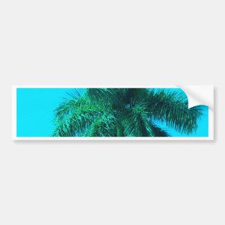Aqua Palm Bumper Sticker