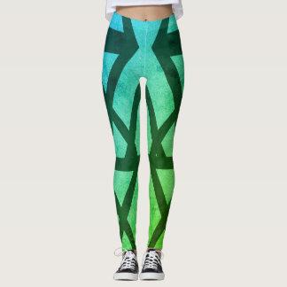 Aqua pattern Leggings for her