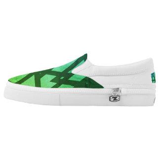 Aqua pattern ZIPZ Slip on shoes