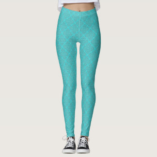 Aqua Patterned Leggings