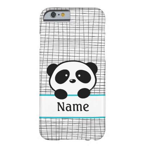 Aqua Personalized Panda iPhone 6 Case