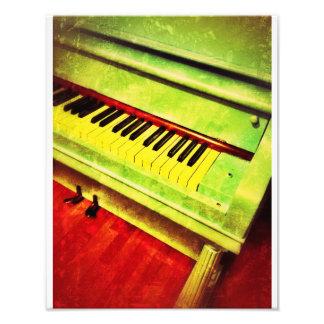 Aqua Piano Photo Print