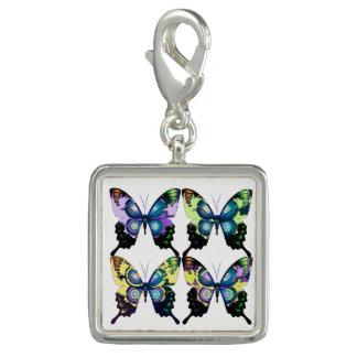 Aqua, Pink, and Yellow -  Elegant Butterflies