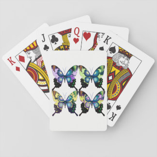 Aqua, Pink, and Yellow -  Elegant Butterflies Playing Cards