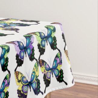 Aqua, Pink, and Yellow -  Elegant Butterflies Tablecloth