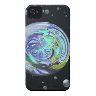 Aqua Planets Abstract Blackberry Bold CaseMate iPhone 4 Case-Mate Cases