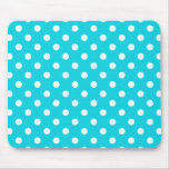 Aqua Polka Dot Pattern Mouse Pad
