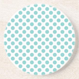 Aqua Polka Dots Coaster