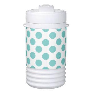 Aqua Polka Dots Drinks Cooler
