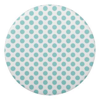 Aqua Polka Dots Eraser