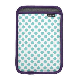 Aqua Polka Dots iPad Mini Sleeve