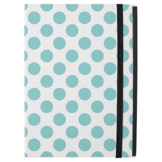 """Aqua Polka Dots iPad Pro 12.9"""" Case"""