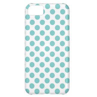 Aqua Polka Dots iPhone 5C Case