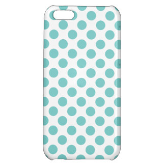 Aqua Polka Dots iPhone 5C Cases