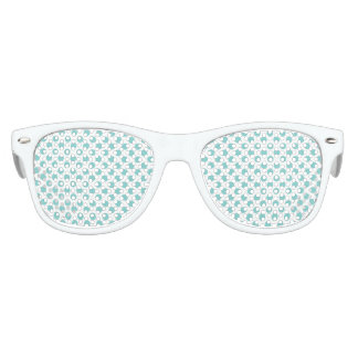 Aqua Polka Dots Kids Sunglasses