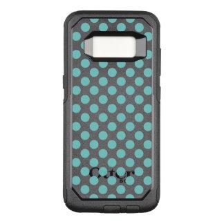 Aqua Polka Dots OtterBox Commuter Samsung Galaxy S8 Case