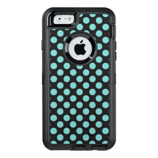 Aqua Polka Dots OtterBox Defender iPhone Case