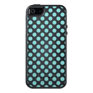 Aqua Polka Dots OtterBox iPhone 5/5s/SE Case