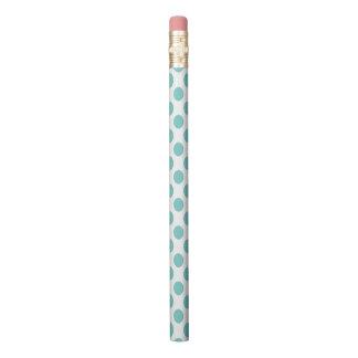 Aqua Polka Dots Pencil