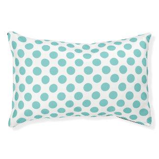 Aqua Polka Dots Pet Bed