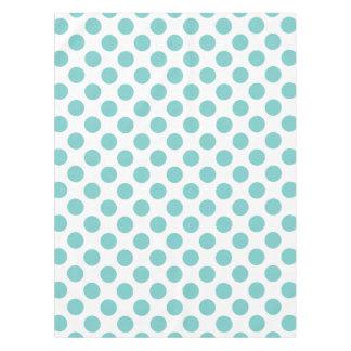 Aqua Polka Dots Tablecloth